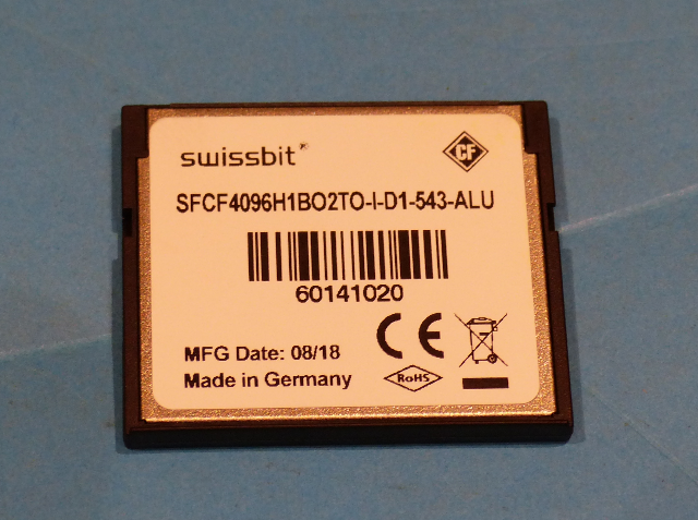 SWISSBIT SFCF4096H1BO2TO-I-D1-543-ALU 4GB COMPACT FLASH MEMORY CARD
