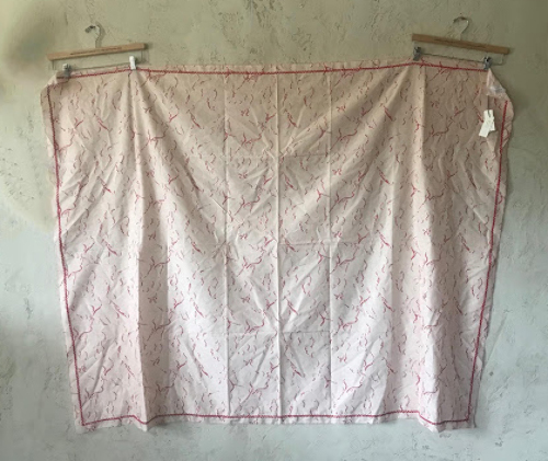 MARYSIA ALOHA PRINT CLOUDS IN PINK/RED SKIRT DRESS SCARF