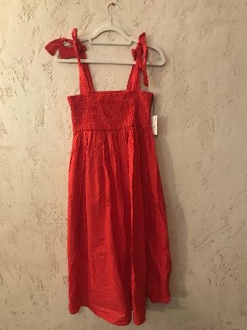 MARYSIA LAHAINA SMOCKED SWISS DOT WIDE STRAP RED DRESS