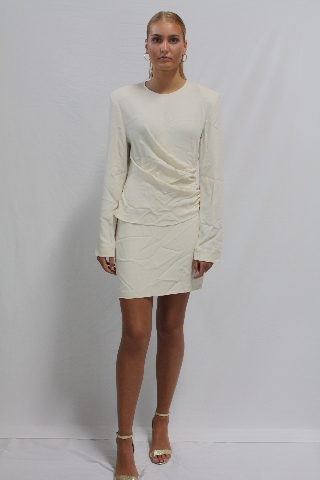 STELLA MCCARTNEY CADY DRESS IN GESSO SIZE 42