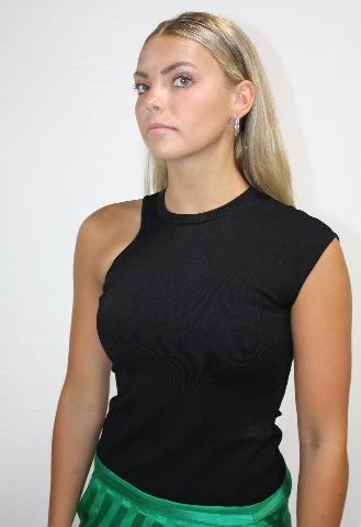 CUSHNIE AMATA TOP IN BLACK SIZE M