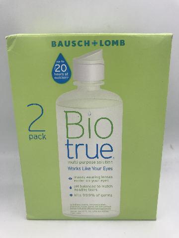 BAUSCH + LOMB BIO TRUE MULTI-PURPOSE SOLUTION 2 PACK