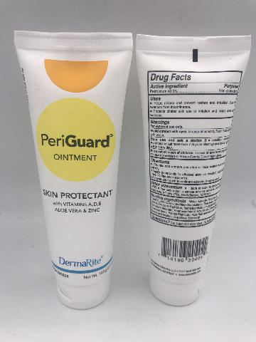 LOT OF 2 DERMARITE PERIGUARD OINTMENT SKIN PROTECTANT 100 G. 3.5 OZ.