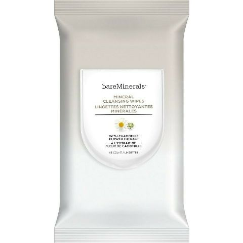 BAREMINERALS MINERAL CLEANSING WIPES, 45 COUNT