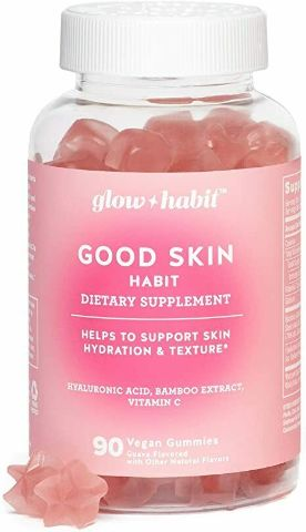GLOW HABIT GOOD SKIN HABIT VEGAN GUMMY VITAMINS, 90 COUNT