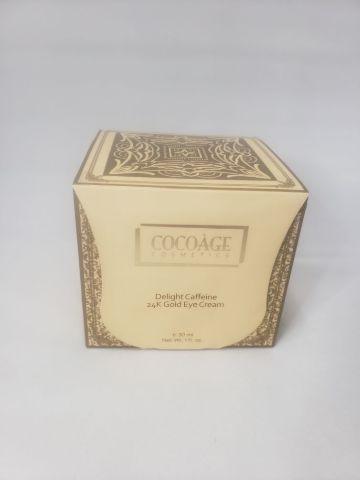 COCOÃ GE COSMETICS   DELIGHT CAFFEINE 24K GOLD EYE CREAM