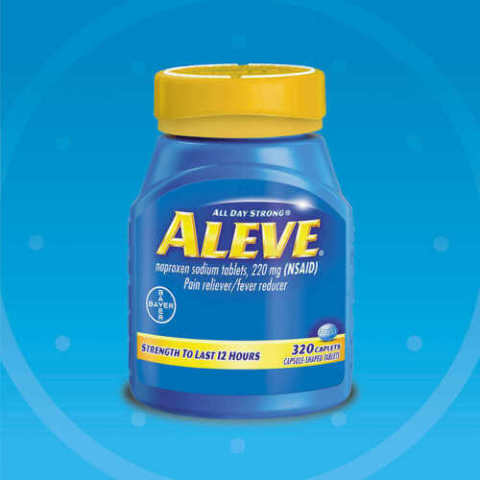 ALEVE 320 CAPLETS NAPROXEN SODIUM 220MG NSAID PAIN RELIEVER FEVER REDUCER X09/21
