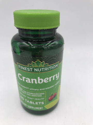 FINEST NUTRITION CRANBERRY 500MG DIETARY SUPPLEMENT 60 TABLETS EXP 08/21
