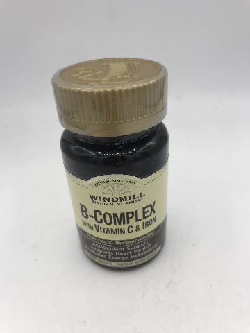 WINDMILL NATURAL VITAMINS B-COMPLEX WITH VITAMIN C & IRON 100 TABLETS EXP 09/21
