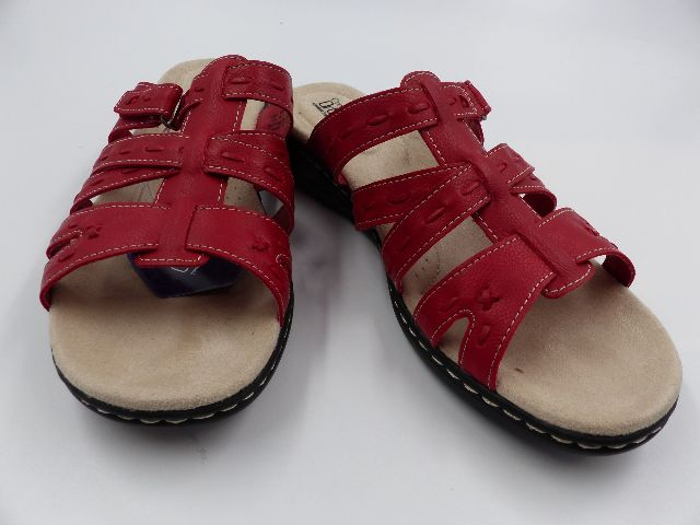 CROFT & BARROW FUGUE RED WOMENS ORTHOLITE RED SANDALS SIZE 11