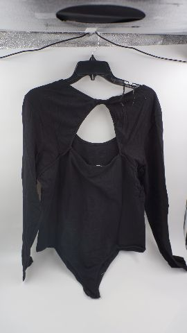 AMBIANCE APPERAL BLACK LONG SLEEVE BODYSUIT WOMENS SIZE 3X