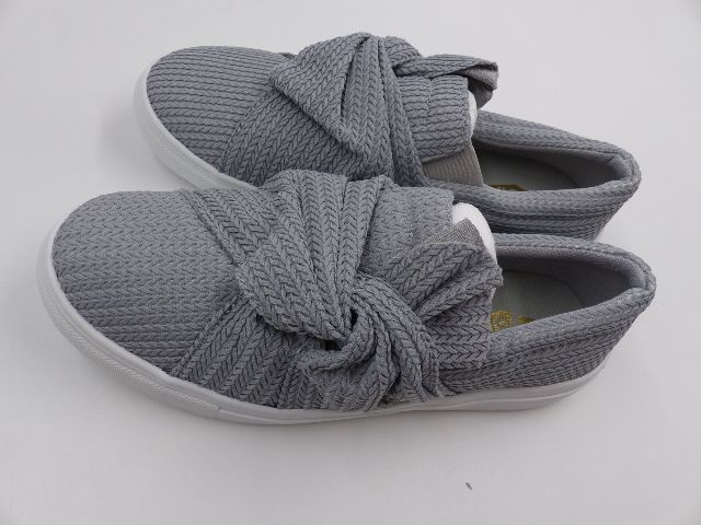Details about  /OIL JOLIMALL KNITTED TWIST SLIP ON SNEAKERS WOMENS GREY SIZE 9
