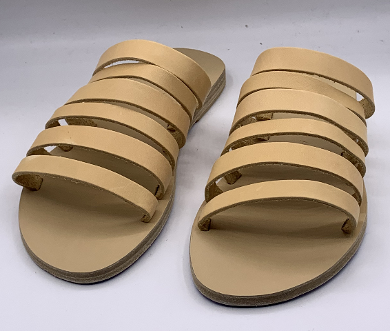 KYMA KIONI HANDMADE IN GREECE LIGHT YELLOW WOMENS SANDAL SIZE US W 8 EU 38