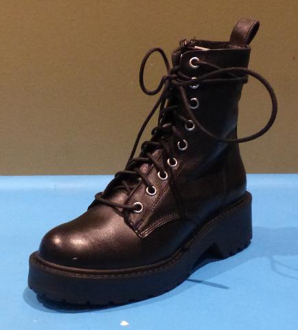 STEVE MADDEN TORNADO BLACK US WOMEN 6.5 COMBAT BOOTS