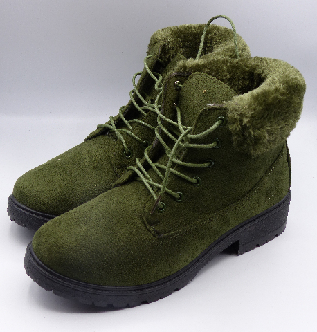 REBEL LV-19-1004 OLIVE US WOMEN 7.5 ANKLE BOOTS