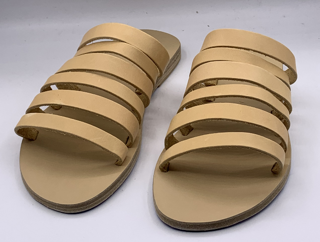KYMA KIONI HANDMADE IN GREECE LIGHT YELLOW WOMENS SANDAL SIZE US W 7 EU 37