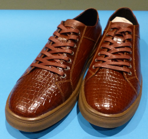 STUDIO BELVEDERE BERNARDO II COGNAC US MEN 10D CASUAL SHOES
