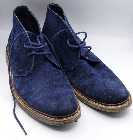 HAWKE & CO MOJAVE BLUE SUEDE US MEN 10 ANKLE BOOTS