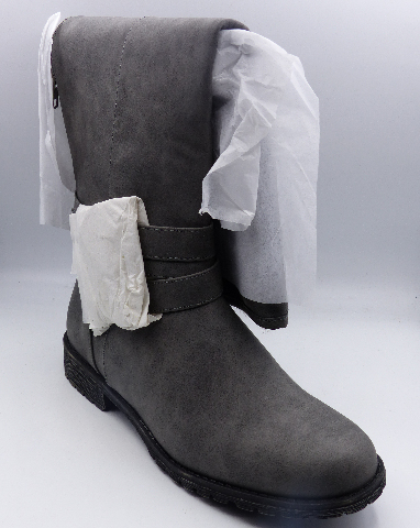 JUST FAB KIRA GREY US WOMEN 8.5 FLAT BOOT