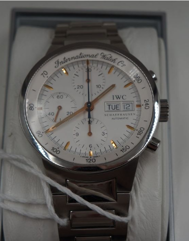 IWC GST AUTOMATIC CHRONOGRAPH IW3707-013 MENS STAINLESS STEEL SILVER WATCH