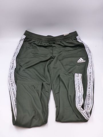 ADIDAS TIRO19 FK9007 MENS EARTH/WHITE LARGE TAPERED FIT TRAINING PANTS
