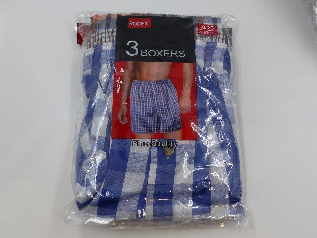 RODEX 2001 3 PACK BOXERS PLAID MENS XL 40-42 BOXERS