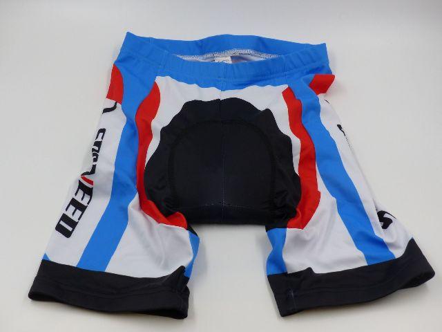 SPONEED CYLCING CLOTHES SET MENS MEDIUM SHIRT & SHORTS RED/WHITE/BLUE
