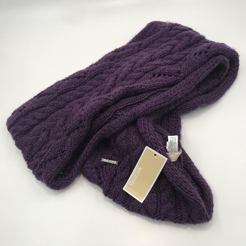 "NORDSTROM MICHAEL KORDS PURPLE CABLE KNIT INFINITY SCARF 80"" X 12"""