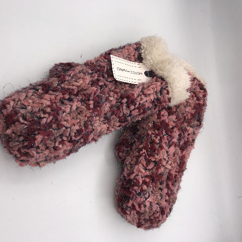 NORDSTROM MELROSE AND MARKET PINK COMBO KNIT MITTENS