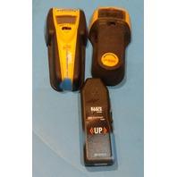 3* ZIRCON & KLEIN TOOLS STUD FINDER/ CIRCUIT BREAKER FINDER I320/HD800/ET300