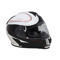 TORC T-14 T14B15SK225 FULL FACE HELMET W/BLINC BLUETOOTH STRYKER WHITE