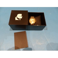KARL LAGERFELD KL1019 UNISEX STUD WATCH GOLD TONE 34MM CASE/BRACELET