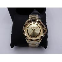 KARL LAGERFELD KL1019 UNISEX STUD WATCH GOLD TONE 34MM CASE/BRACELET