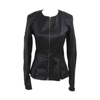 THE ROW ANASTA JACKET BLACK SIZE 10
