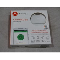 MOTOROLA CONNECT COIN SMART TAG AC001 WH KEY FINDER PHONE FINDER WHITE