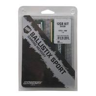 CRUCIAL BALLISTIX SPORT BLS3KIT4G3 12GB 3X4GB 240-PIN DDR3 SDRAM DESKTOP MEMORY