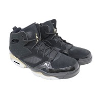 NIKE AIR JORDAN 555475 031 MENS BLACK/METALLIC BASKETBALL SHOES SIZE10