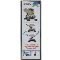 URBINI 10EB2Y-HTGU REVERSIBLE LIGHTWEIGHT STROLLER HEATHER GREY
