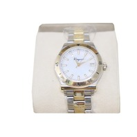 FERRAGAMO FH0010017 1898 MOTHER OF PEARL DIAL LADIES TWO TONE WATCH