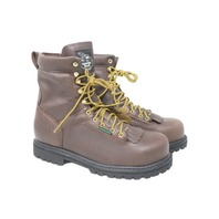 GEORGIA BOOT G8341 MENS LOW HEEL LOGGER 8IN SAFETY TOE BOOTS SZ 10
