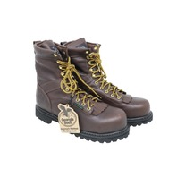 GEORGIA BOOT G8341 MENS LOW HEEL LOGGER 8IN SAFETY TOE BOOTS SZ 11.5