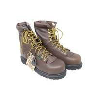 GEORGIA BOOT G8341 LOGGER WORK BOOTS MENS SIZE 9.5 CHOCOLATE