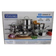 VIKING 794520 13 PIECE TRI-PLY COOKWARE SET