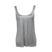 PACO RABANNE 14ETT0904MES014 METAL-MESH SLEEVELESS TOP S 38