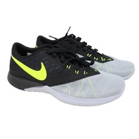 NIKE FS LITE TRAINER 4 (844794 004) MENS WOLF GREY/VOLT-BLACK SHOES SZ 9.5
