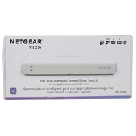 NETGEAR VIZN GC110P-100AS 8-PORT POE APP MANAGED SMART CLOUD SWITCH