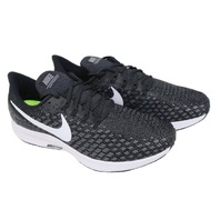 NIKE AIR ZOOM PEGASUS 35 942853 001 MENS BLACK/WHITE-GUNSMOKE-OIL GREY RUNNING SHOES SIZE 9W