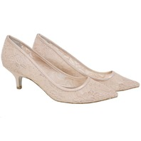 ADRIANNA PAPELL LOIS-LC BLUSH LOIS LACE EVENING PUMPS SIZE 9 US/39 EU