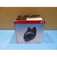 NITRINOS MPMH-001-YW-L YELLOW FULL FACE MOTORCYCLE POKE CAT EAR HELMET