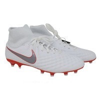 NIKE OBRA 2 ACADEMY AH7303 107 WHITE/METALLIC GREY CLEATS SZ MENS 9/WOMENS 10.5